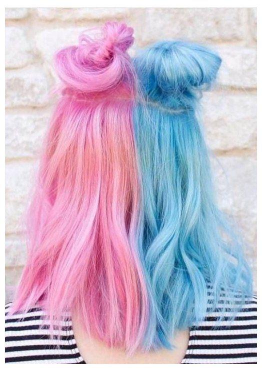 20 Hair Accessory Shops On Instagram For Major Hair Inspiration Half Pink Half Blue Hair Halfpinkhalfbluehair Fin In 2020 Pink Hair Dye Split Dyed Hair Dyed Hair