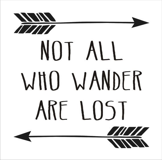 Not All Who Wander Are Lost Reusable Stencil 6 Sizes Available