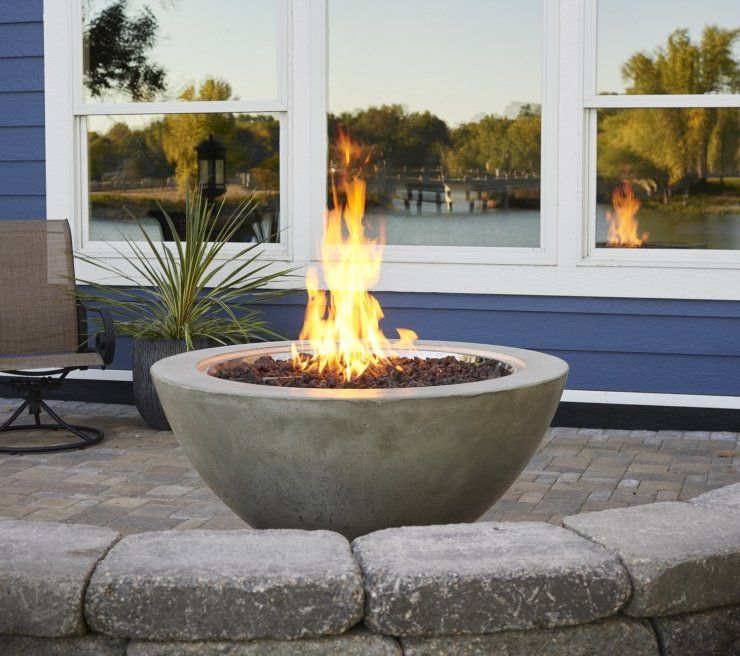 Natural Grey Cove 30 Gas Fire Pit Bowl Outdoor Fire Outdoor Fire Pit Fire Pit Bowl