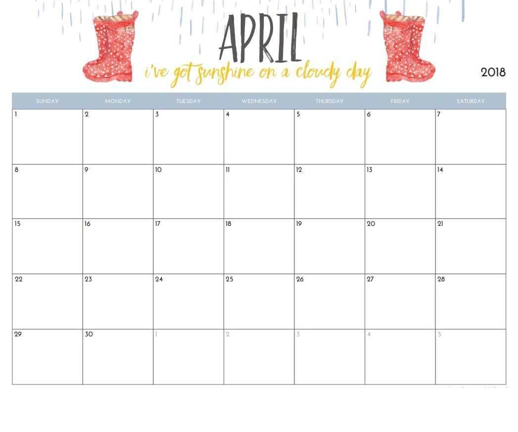 april 2018 calendar designs download calendar 2018 pinterest
