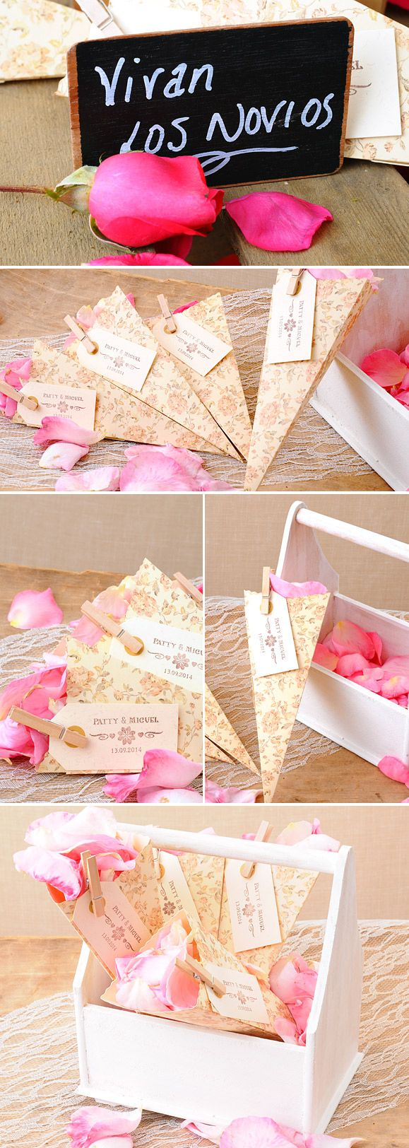 5 ideas muy sencillas para colocar los pétalos en vuestra boda