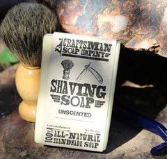 Craftsman Soap Co. all-natural unscented shaving soap