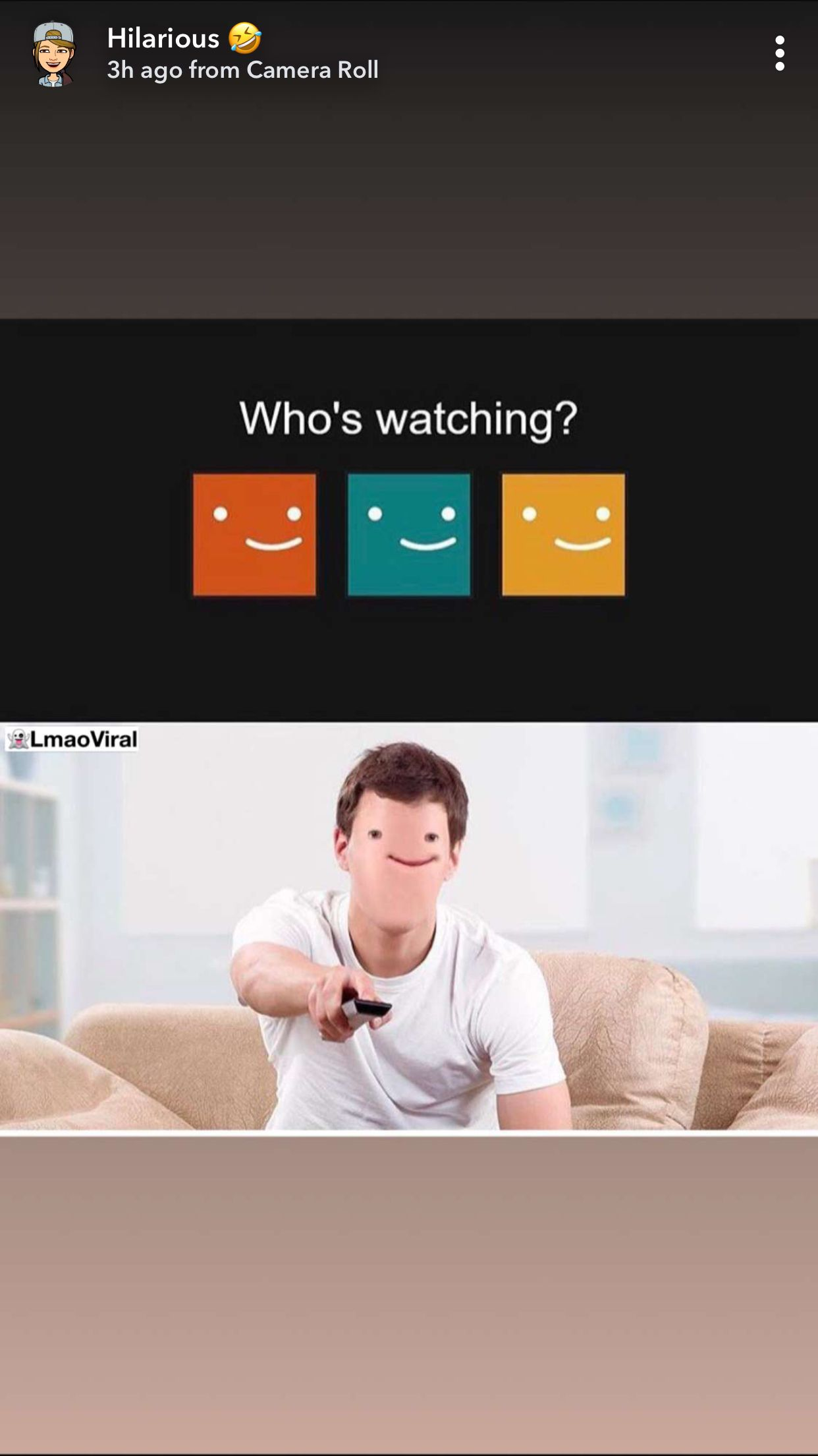 Netflix who's watching face Bad but funny jokes, Haha