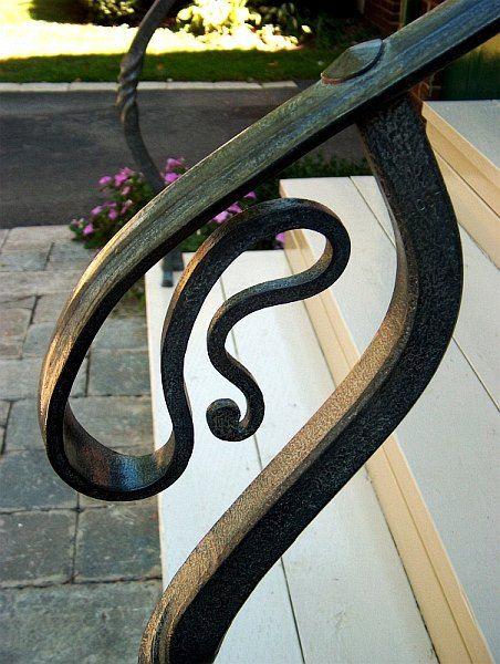 Best Handrail Forged Design Blacksmithing Mark Puigmarti 400 x 300