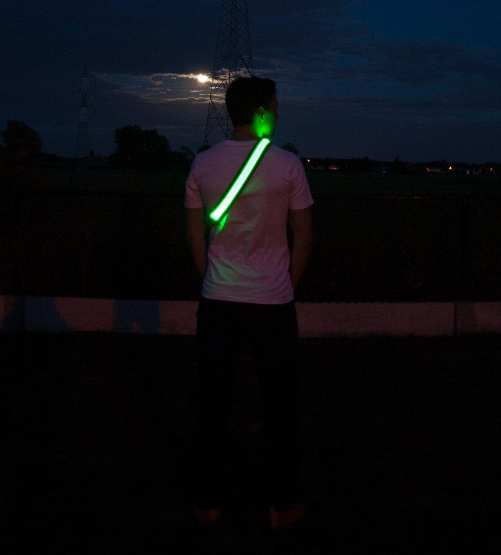 Best Running Cycling Reflective Strap LED Fiber Light Safety Vest Night Sports