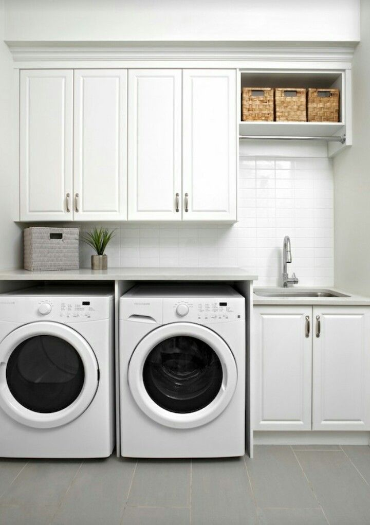 Counter Over Washer And Dryer House Bathroom Pinterest