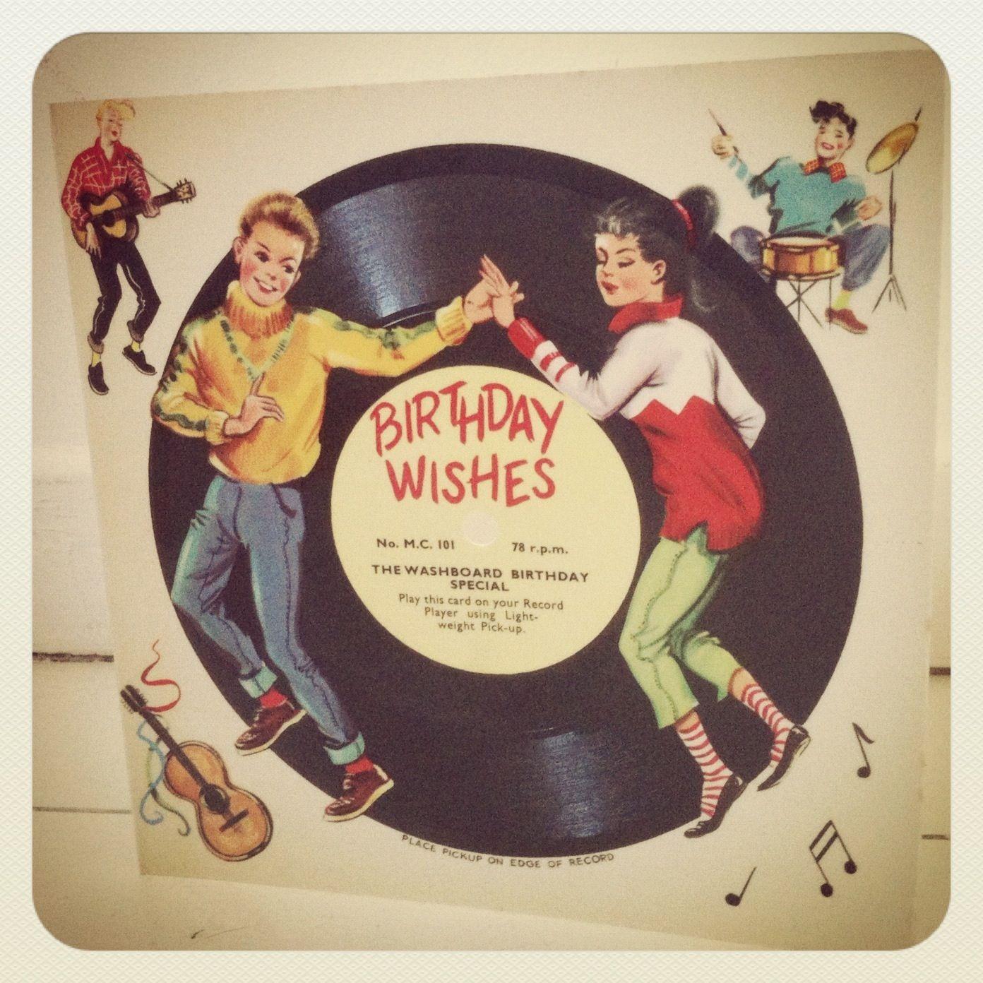 rock n roll vintage birthday card Vintage Postcards – Vintage Birthday Cards
