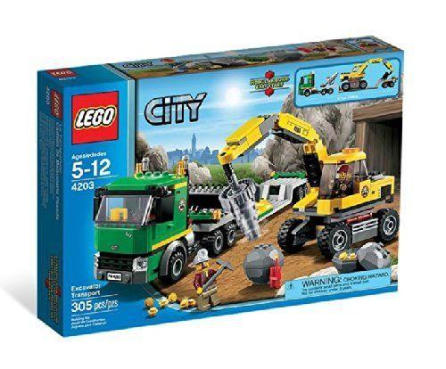 Lego City 4203 Excavator Transport Lego City Lego City Sets Lego