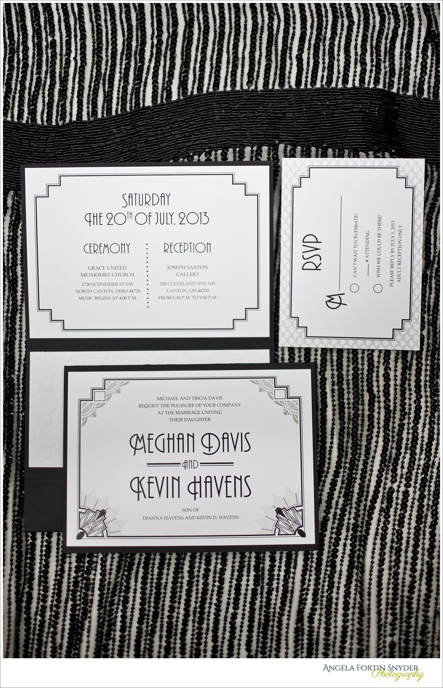 Meghan & Kevin\'s Modern Photography Gallery Wedding! | Art deco ...
