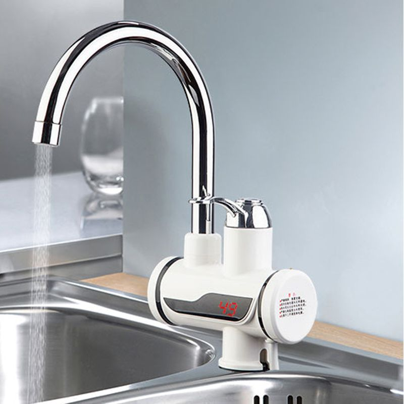 Instant Water Heater Kitchen Sink Oak Cabinets Electric Tap Hot Faucet Cold Heating Tankless Instantaneous