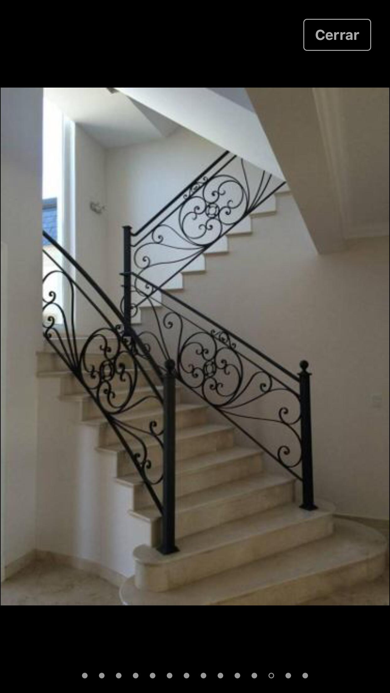 Aca nos gusta este estilo de escalera y baranda de hierro - Baranda para escalera ...