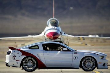 The latest one-off Ford Mustang going to auction to benefit the EAA Young Eagles has arrived.