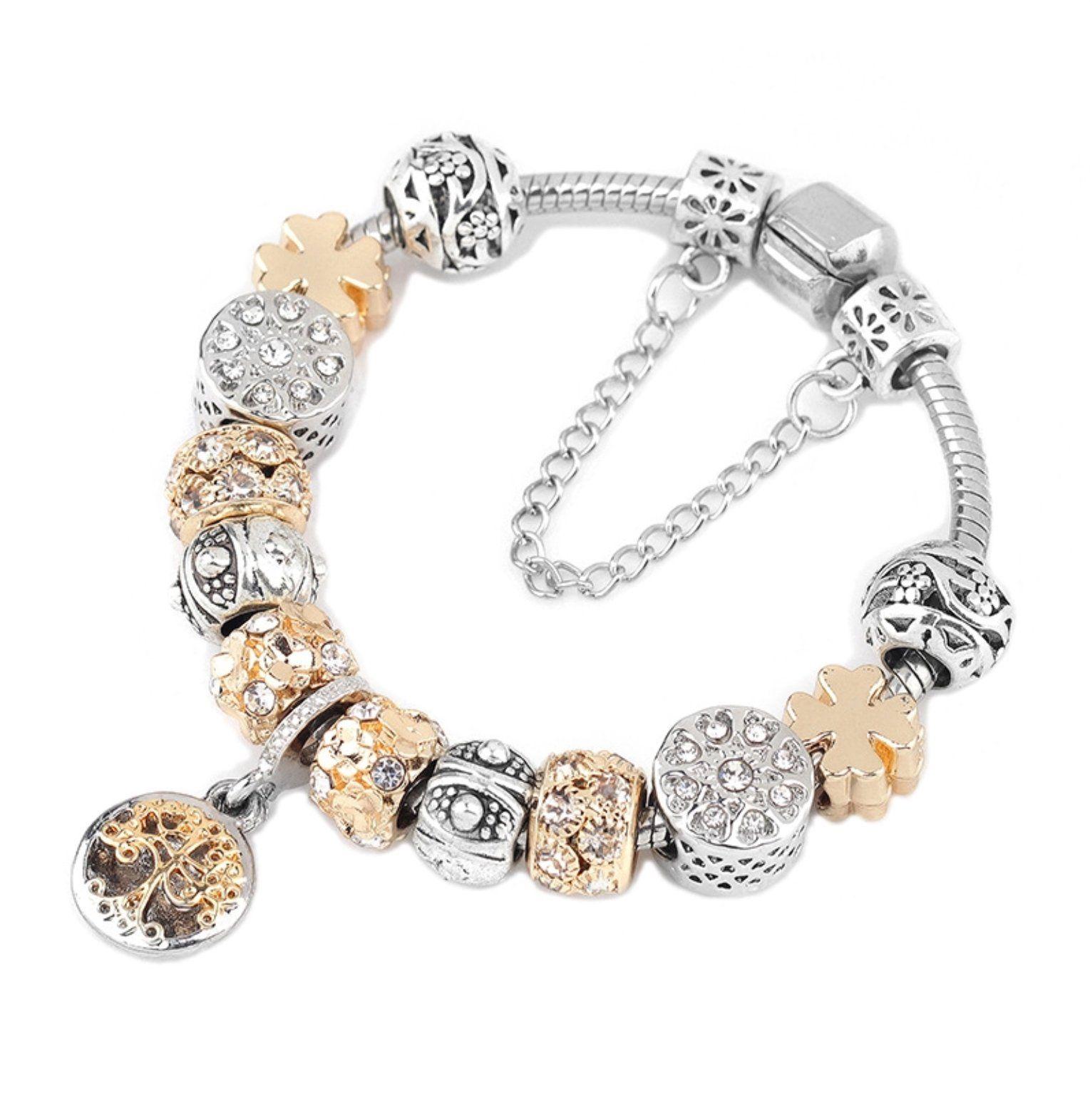 Family Tree Charm Bracelet Anyzul Charm Bracelet Silver Charms Silver Charm Bracelet