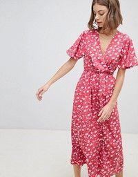 4118386eff Faithful the Brand   Faithfull Ditsy Floral Wrap Midi Dress   Don't ...