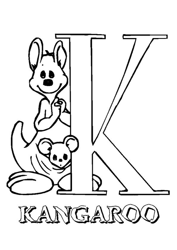 10 Cute Kangaroo Coloring Pages For Your Little Ones With Images