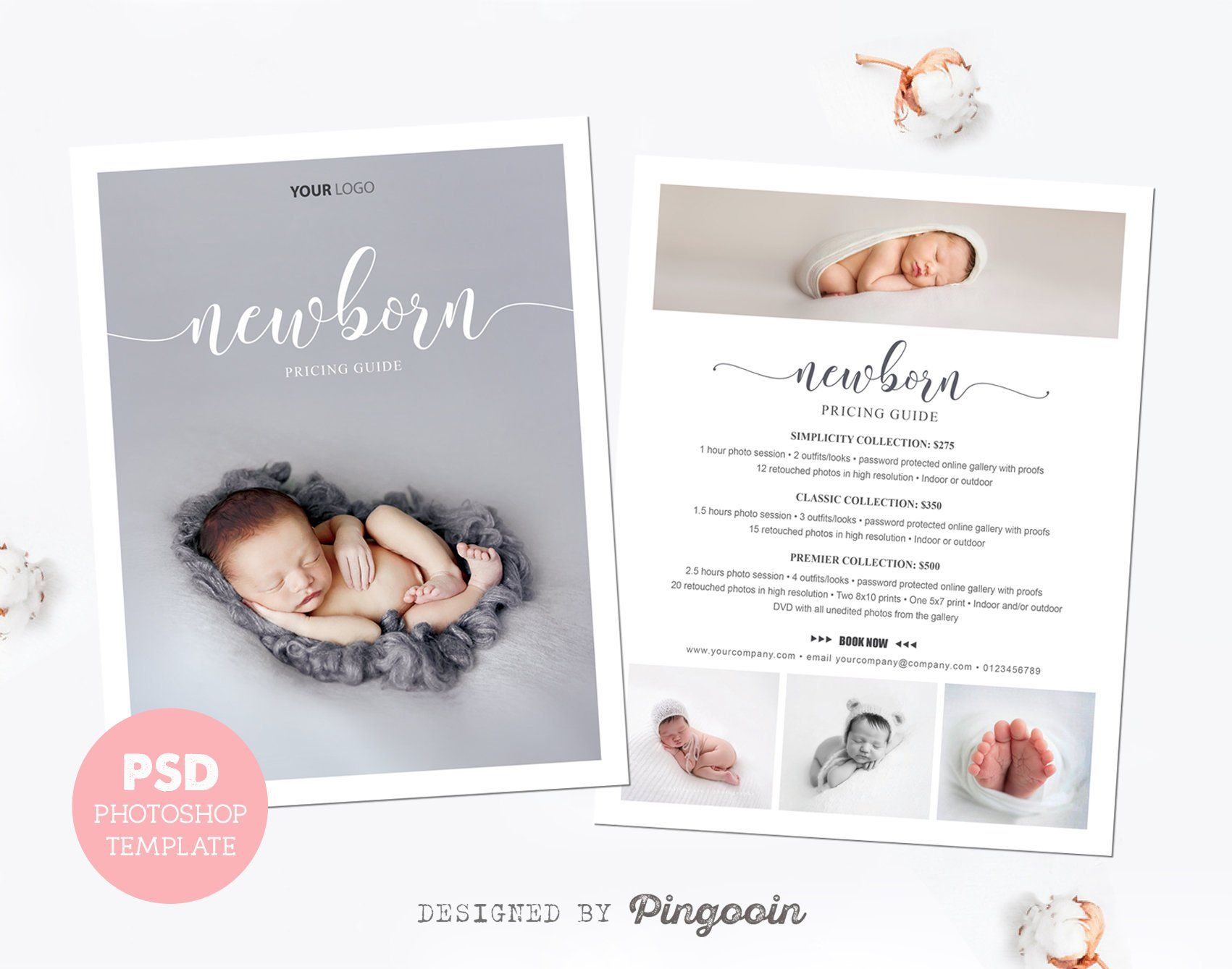 Photography price list pricing guide newborn pricing template marketing template newborn photography editable photoshop files plt65