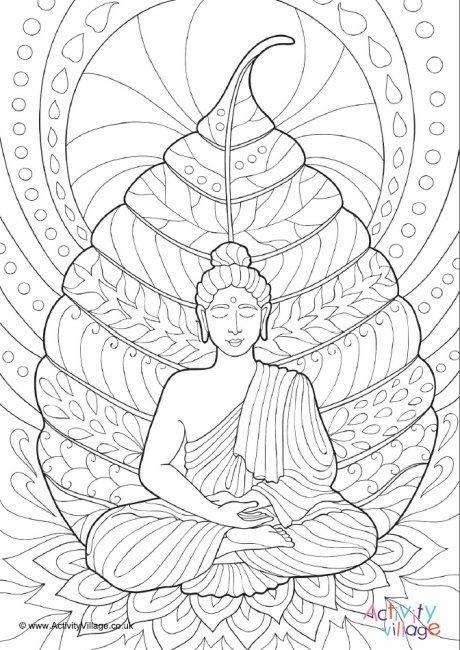 Buddha Colouring Page 2 Buddha Drawing Buddha Art Buddha Painting