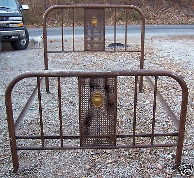 Antique Metal Designed Bedframe On Wheels In Antiques Furniture
