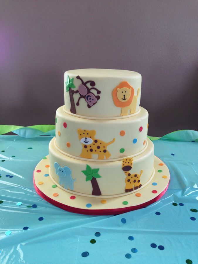 Baby Shower Zoo Cakes ~ Zoo baby shower cake ideas for boys