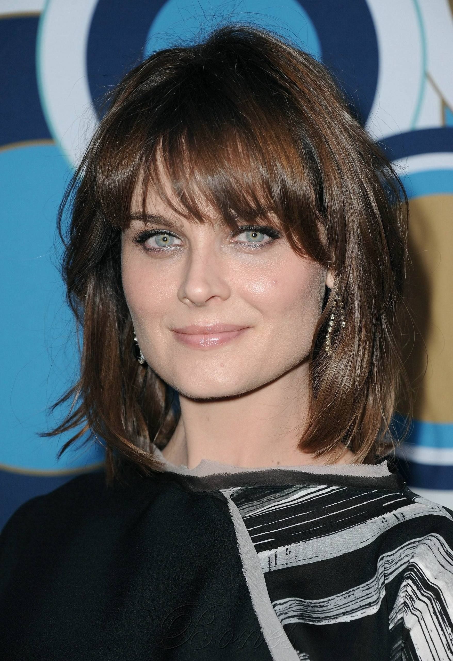 Pelo Corto Cara Cuadrada Photo Of Emily Deschanel Hq Images Of The Fox Fall Party