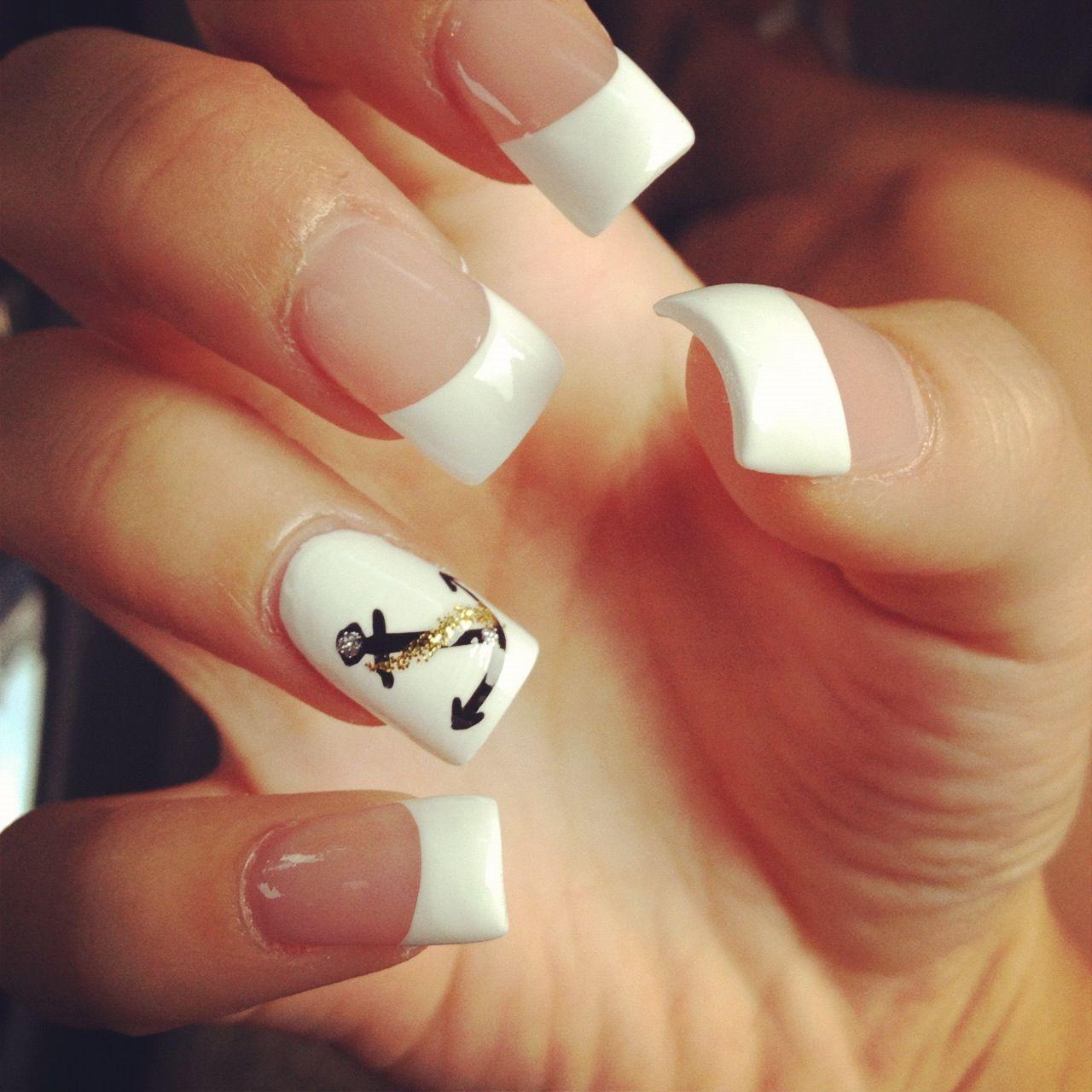 60 Cute Anchor Nail Designs - 60 Cute Anchor Nail Designs Anchor Nails, Nautical Nails And Cruises