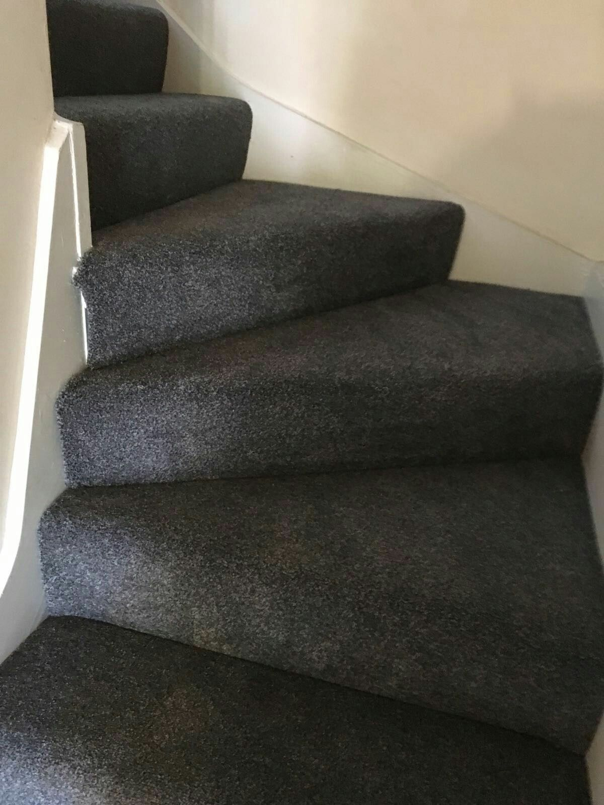 Dark Grey Charcoal Carpet On Stairs Dark Carpet Charcoal Grey | Stairway To Darkness Rug | Area | Tardis | 3 Dimensional | Floor | Scary