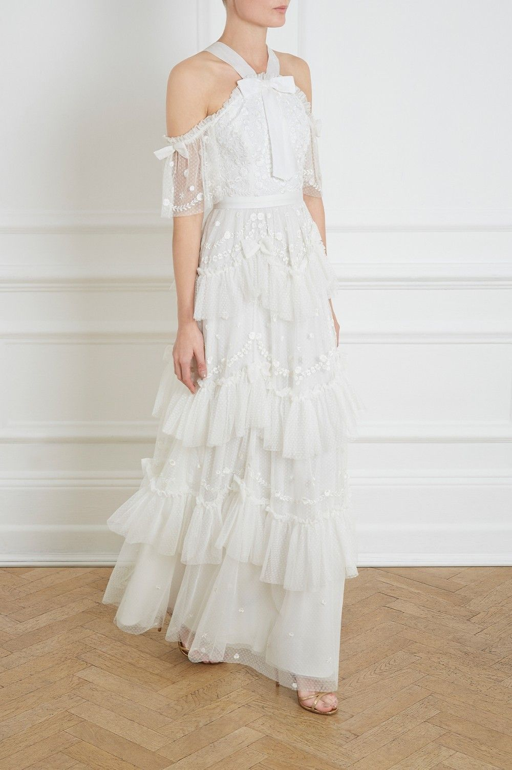 Day dreamers gown in pearl from needle u thread cr clothes in
