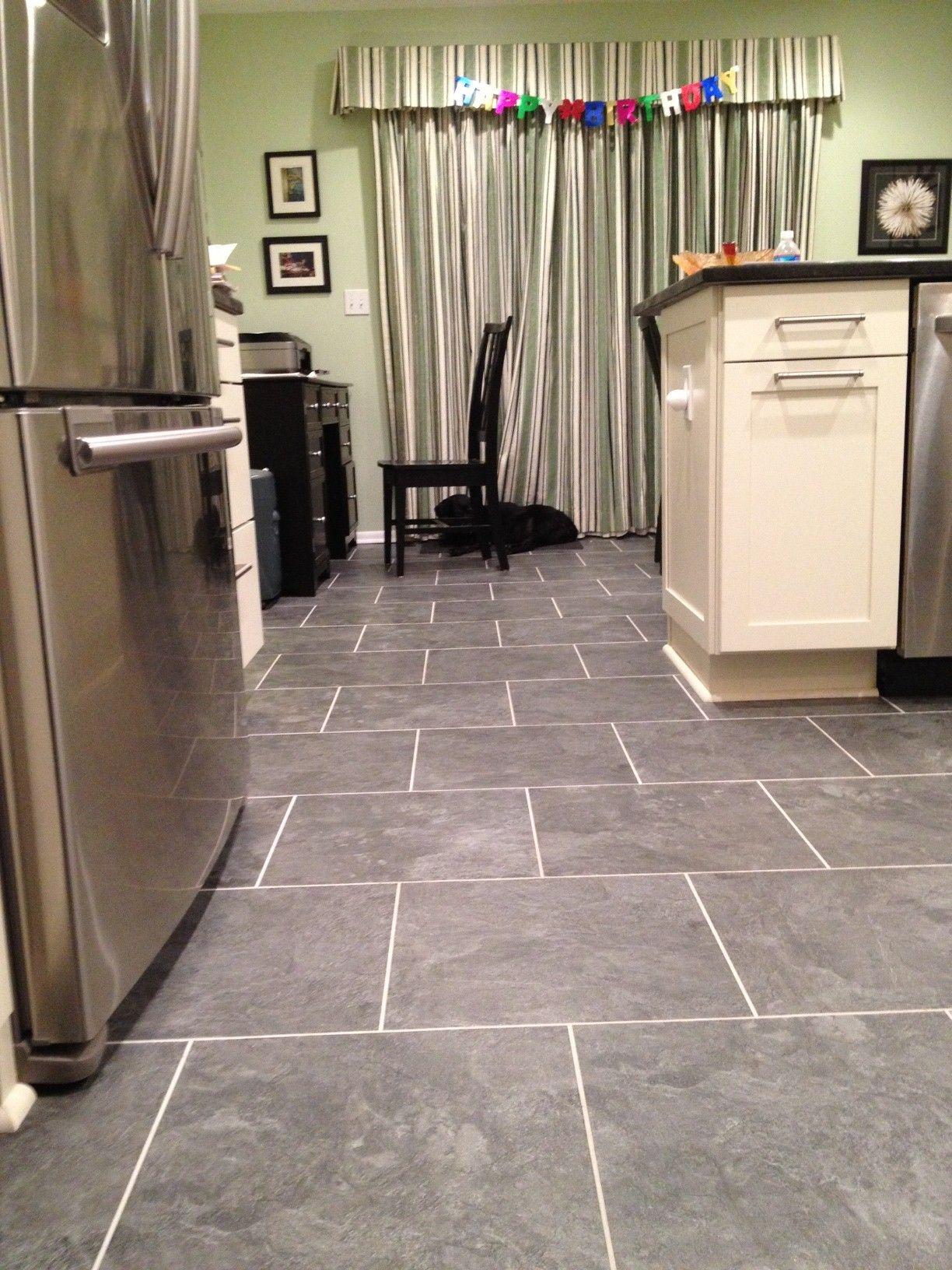 Alterna Mesa Stone Charcoal Flooring Guest Bathroom Tile Floor