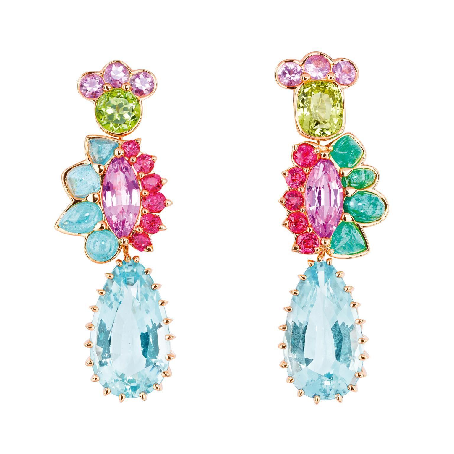 Dior Granville Aigue marine earrings
