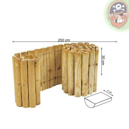 beetumrandung rasenkante aus holz rollboarder 30 cm hoch. Black Bedroom Furniture Sets. Home Design Ideas