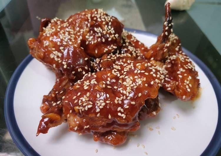 Resep Korean Chicken Wing Yang Sedap Di 2020