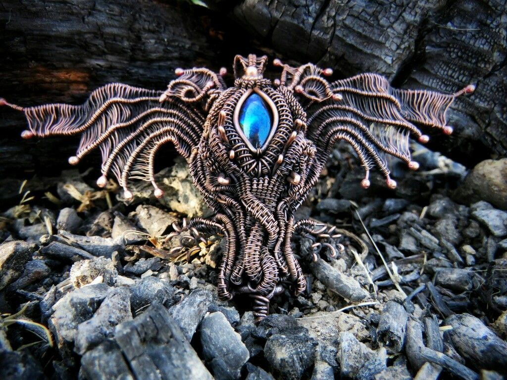Wire Wrapped Dragon Pendant By Tanja Dobroslavic Wire Wrapped