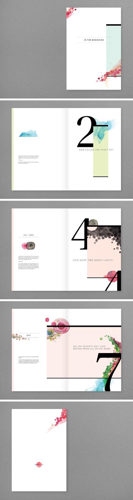 Beautiful minimal editorial design