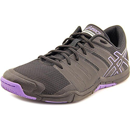 Fashion · ASICS Women's Met Conviction Fitness Shoe, Black/Black/Iris, ...