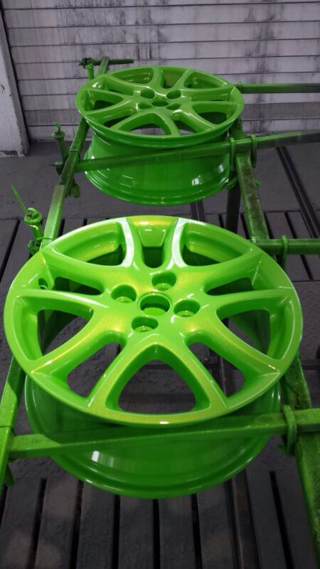 Painted These Rims In Ford Focus Rs Green Will Stands Great On A Matt Black Car Love The Color