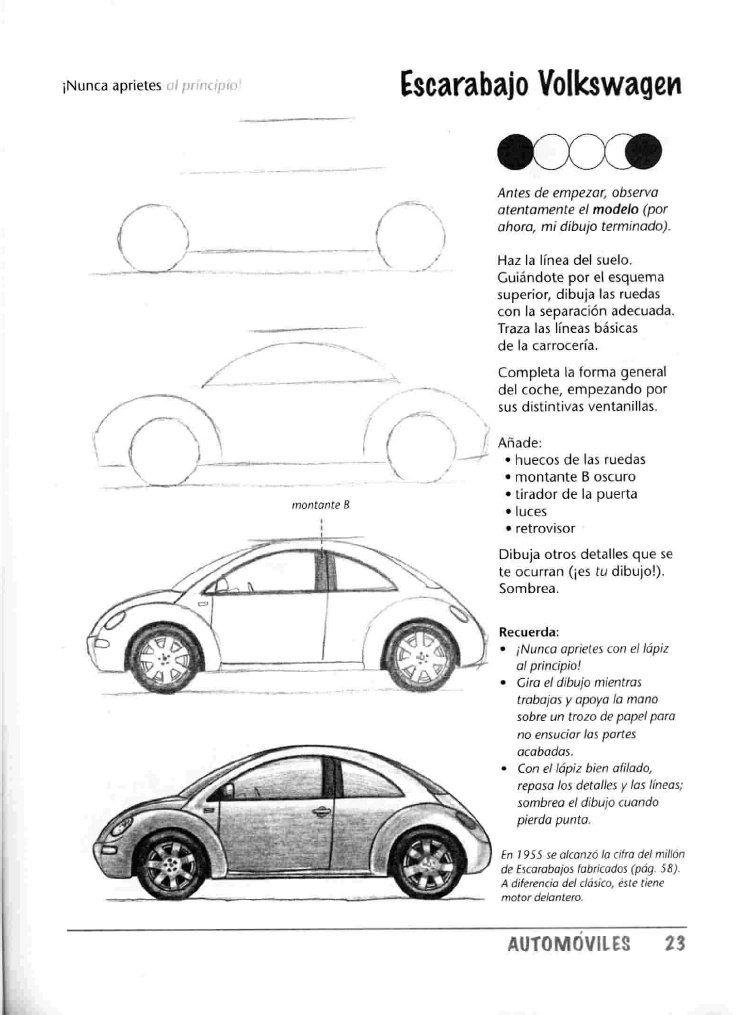 Como Dibujar Autos Paso A Paso Dibujo Bocetos Pinterest