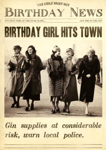 Birthday girl hits town Funny birthday cards, Happy