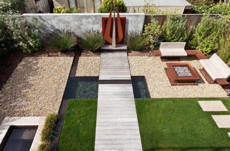 Ideen Garten Modern. Sitzplätze Im Garten - Cortenstahl