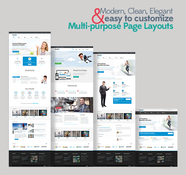 Quentin premium multipurpose wordpress theme for Wordpress design