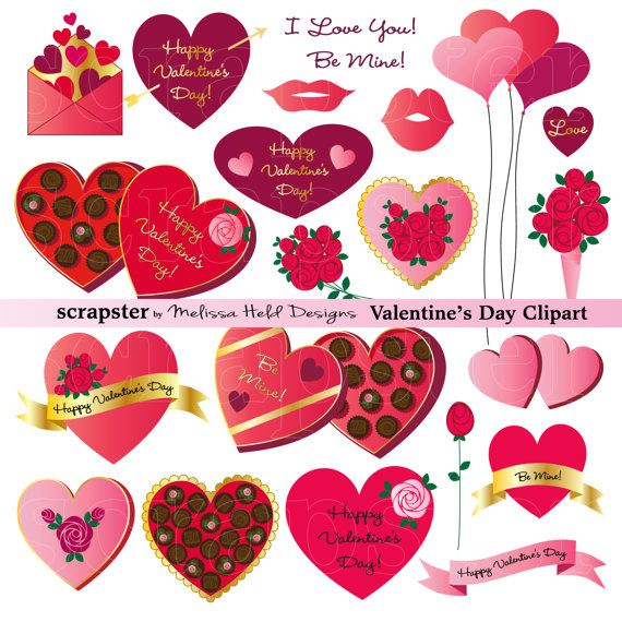 Valentine S Day Clipart By Scrapsterbymhdesigns On Etsy Valentines Day Clipart Valentines Envelopes Clip Art