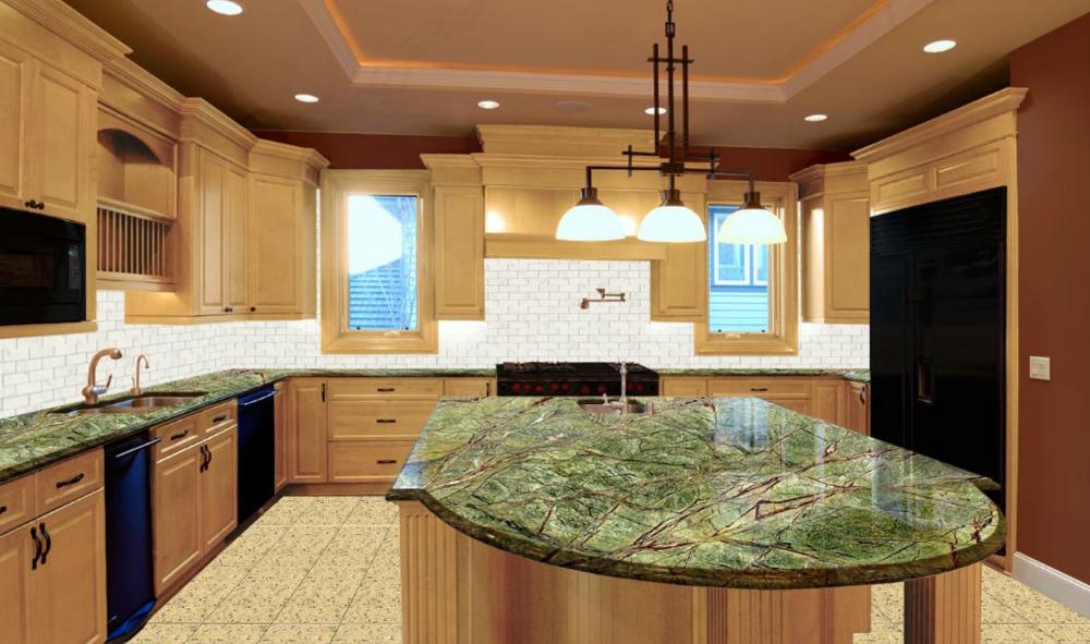 Green Granite Kitchen Countertops ...   Green granite ...