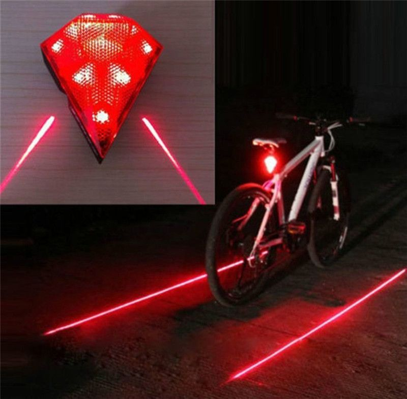 Rechargeable Bike Rear Light Cycling Safety Zone Lamps Bicycle Led