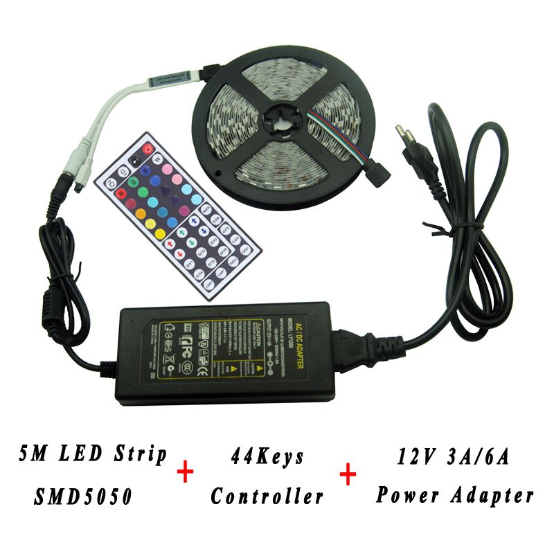 Find More LED Strips Information about 5M DC 12V RGB LED Strip SMD5050/3528 60LEDs/M No Waterproof Flexible Light 12V 2A Power Adapter 44Keys IR Remote LED Controller,High Quality plug,China plug acer Suppliers, Cheap plug in track lighting from Shenzhen Raysflt Technology Co., Ltd. on Aliexpress.com