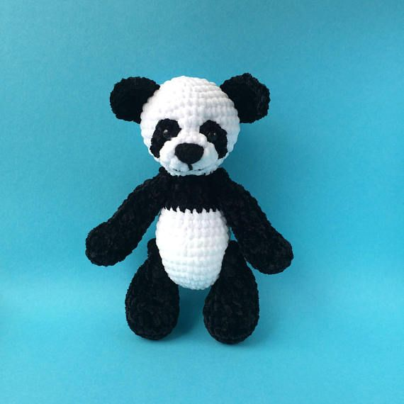Crochet Big Panda Bear Amigurumi Handmade Stuffed Toy Products