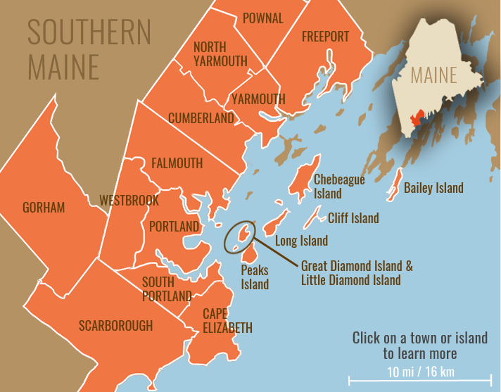 Map Of Southern Maine Map of Southern Maine | I like it | Visit portland, Maine in the