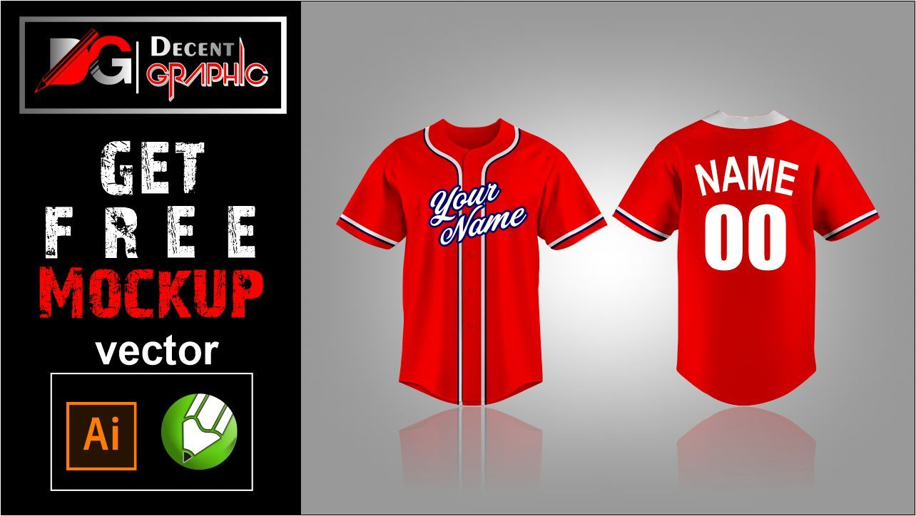 Download Get Free Basball Jersey Mockup Design Mockup Design Mockup Free Download Vector Free