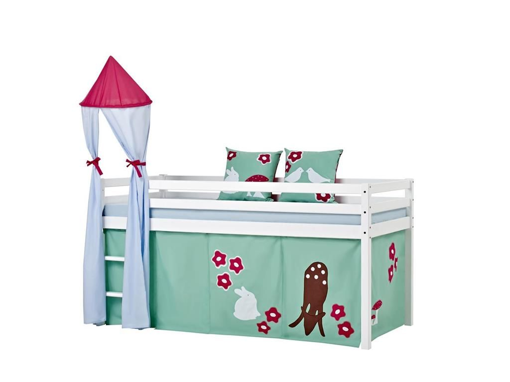 Wunderbar Bett Halbhoch Galerie Von Turm Für Spielbett, Bett, Höhe 185cm, Hoppekids