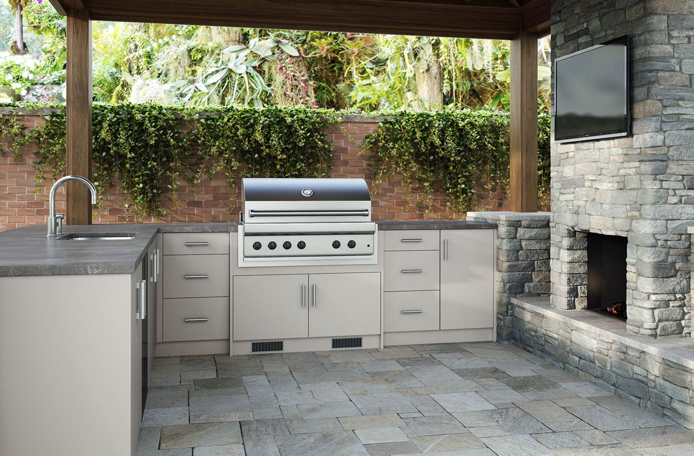 Costco Weatherstrong Outdoor Cabinetry In 2020 Outdoor Kitchen Cabinets Assembled Kitchen Cabinets Modern Outdoor Kitchen