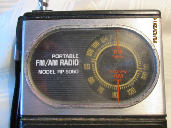 Vintage FM/AM Transistor Sanyo Portable RP5050 Radio, Made