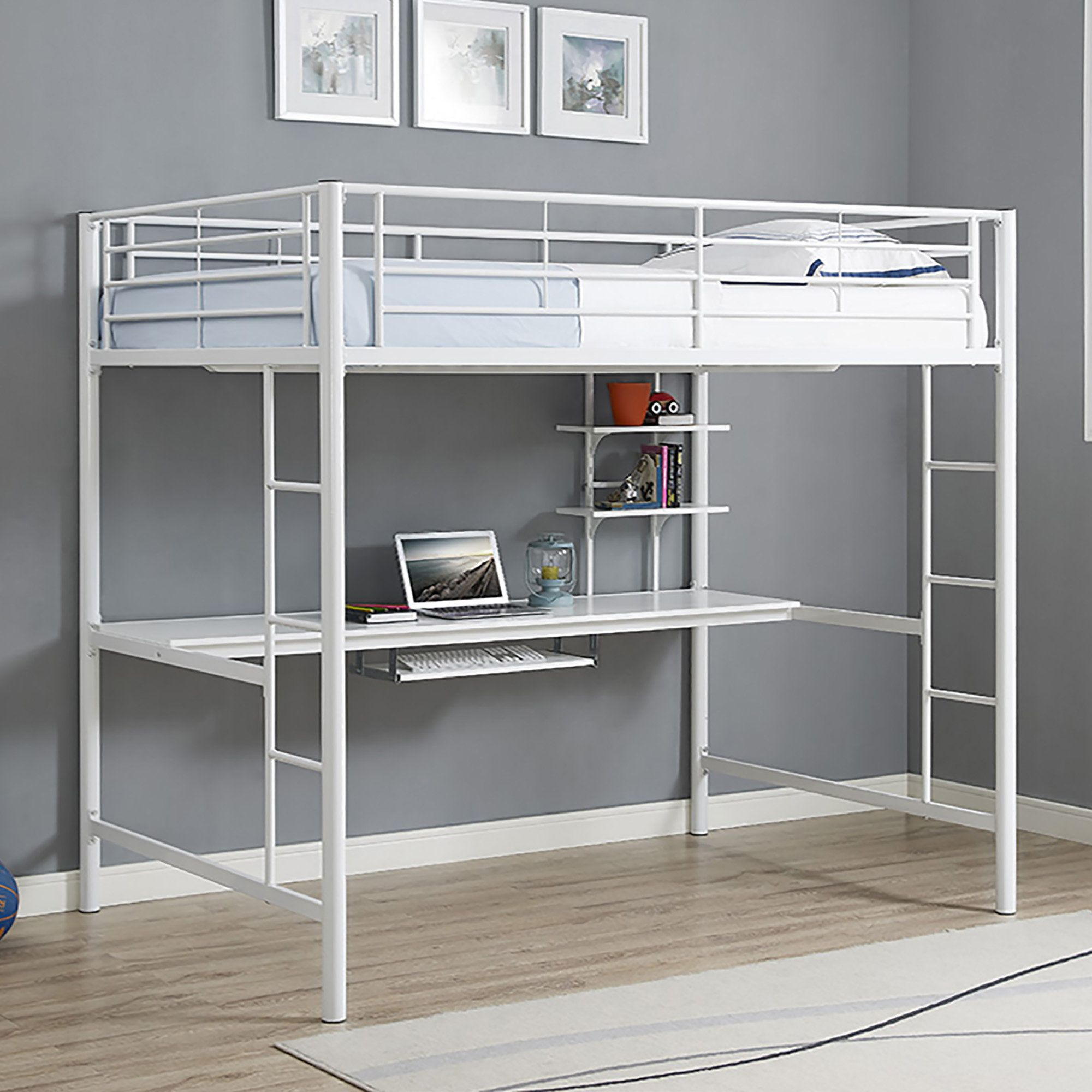 Maurice Full Loft Bed with Desk and Bookcase Bunk beds